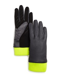 Urban Research Ur Leather Tech Gloves Stonewall