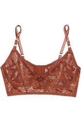 Lonely Bella Stretch Lace Underwired Bra Brown