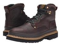 Georgia Boot G6374 6 Safety Toe Giant Brown Men's Work Lace Up Boots