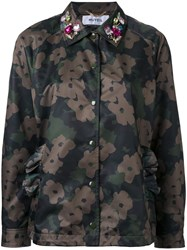 Muveil Floral Camouflage Jacket Green