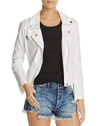 Blank Nyc Blanknyc White Denim Moto Jacket 100 Exclusive Whisper White