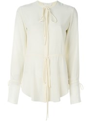 Chloe Drawstring Blouse White
