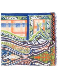 Etro Abstract Print Scarf