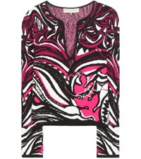 Emilio Pucci Knitted Cotton Sweater Multicoloured