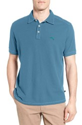 Tommy Bahama Men's Big And Tall Tropicool Spectator Pique Polo Clearwater Blue