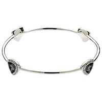 Finesse Night Trilliant Swarovski Crystal Bangle Silver