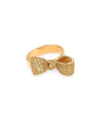 Mimi So 18K Yellow Sapphire Pave Small Bow Ring
