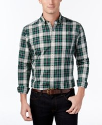Club Room Men's Classic Fit Plaid Shirt Only At Macy's Dark Forest