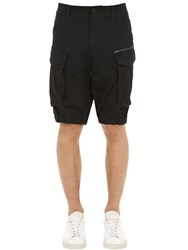 G Star Rovic Relaxed Cotton Twill Cargo Shorts Black