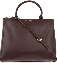 Sandro Alanisse Medium Leather Shopper Burgundy