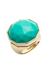 Women's Trina Turk Faceted Stone Cocktail Ring Blue