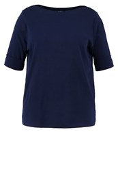 Lauren Ralph Lauren Woman Benny Basic Tshirt Navy Dark Blue