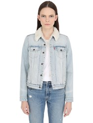 Levi's Faux Shearling And Cotton Denim Jacket
