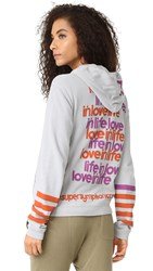 Freecity Live In Love Zip Hoodie Silver Cloud