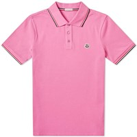 Moncler Classic Contrast Tipped Polo Pink