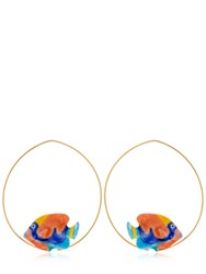 Nach Rainbow Box Fish Hoop Earrings Multicolor