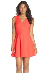 Felicity And Coco Back Cutout Fit Flare Dress Orange