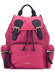 Burberry Patch Pocket Backpack Pink Purple