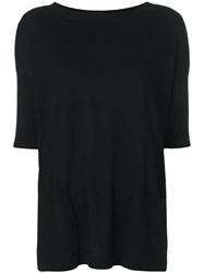 Snobby Sheep Relaxed Knitted Top Black