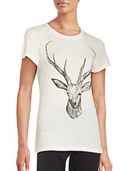 Wildfox Couture Graphic Cotton Tee Vintage Lace