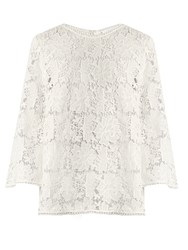Zimmermann Aerial Guipure Lace Top Ivory