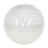 Amara Cut Glass Ball Scented Candle White