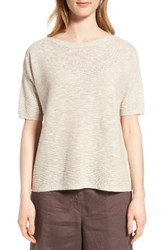 Eileen Fisher Women's Organic Linen And Cotton Knit Pullover Unnatural