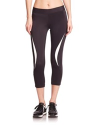 Rebecca Minkoff Avery Cropped Performance Leggings Black White