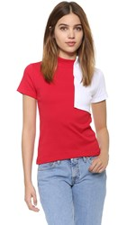 Jacquemus Square T Shirt Red White