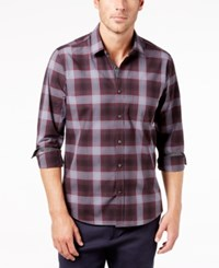 Ryan Seacrest Distinction Men's Gray Port Plaid Pocket Shirt Created For Macy's