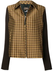 Gianfranco Ferre Vintage 2000'S Checked Jacket Brown
