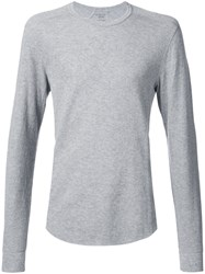 Vince Crew Neck Sweatshirt Cotton M Grey