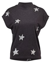 Cheap Monday Dig Fake Print Tshirt Dark Grey Melange