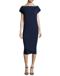La Petite Robe Di Chiara Boni Shirley Midi Shift Dress Blue