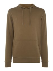 Minimum Men's Long Sleeved Hoodie With A Front Pocket Seaweed Green