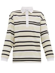 J.W.Anderson Jw Anderson Striped Cotton Jersey Rugby Shirt Green