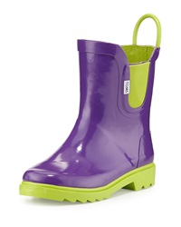 Toms Rubber Rain Boot Purple Tiny