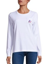 Vineyard Vines Solid Happy New Year Whale Pocket T Shirt White
