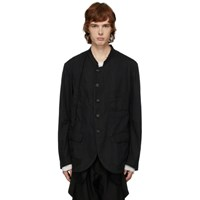 Ziggy Chen Black Unstructured Blazer