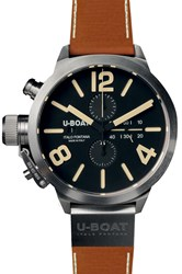Classico Chronographe 45Mm Brown Leather Band U Boat