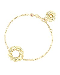 Roberto Coin 18K Twisted Open Circle Station Bracelet Gold