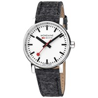 Mondaine Mse.35110.Lh Unisex Evo 2 Fabric Strap Watch Grey White