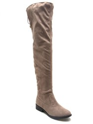 Qupid Vinci Over The Knee Boot Charcoal