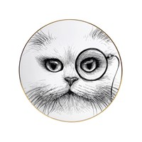 Rory Dobner Perfect Plates Cat With Monocle Large