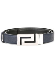 Versace Greca Key Reversible Buckle Belt Black