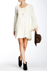Voom By Joy Han Anya Bell Sleeve Dress White