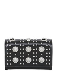 Versus Studded Shiny Leather Top Handle Bag