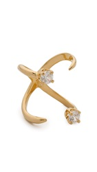 Bijules Knuckle Ring Gold Clear