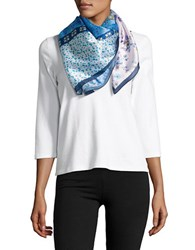 Collection 18 Floral Printed Patchwork Scarf Lavender