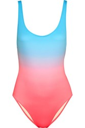 Solid And Striped The Anne Marie Ombre Swimsuit Bright Pink